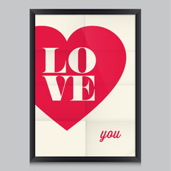 I love you, poster, card, for wedding, valentines day