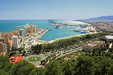 View of Malaga's port