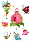 fairy illustration set
