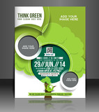 Vector eco brochure, flyer, magazine cover