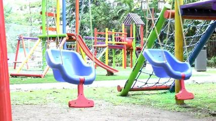 Empty swing set. Missing child concept.