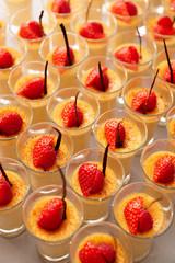 Cream and berry desserts