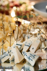 Cheese on a banquet table