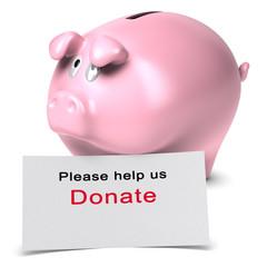 Please help us, donate, Donation concept