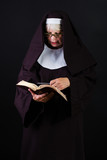 Bible reading nun
