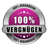 5 Star Button pink 100% VERGNÜGEN DTO DTO