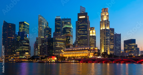 Panorama of Singapore downtown