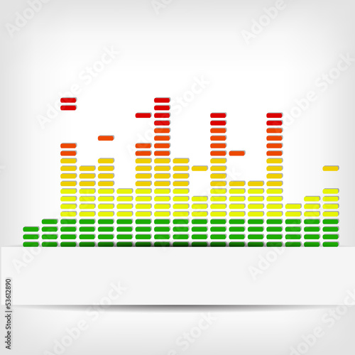 Abstract rainbow equalizer background