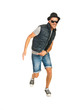 Dancing cool rapper