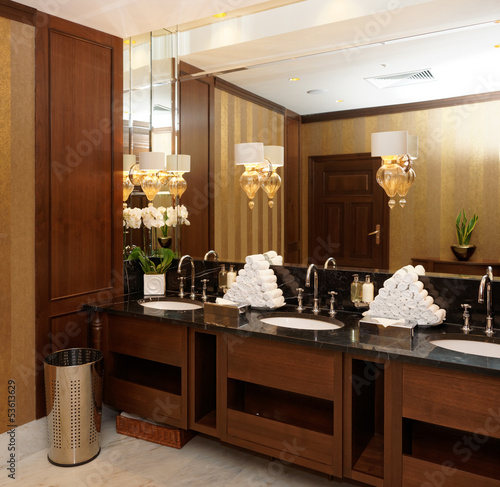 Restroom in hotel or restaurant