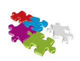 Fototapety Colored 3d puzzle