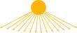 Ägyptische Sonne mit Händen