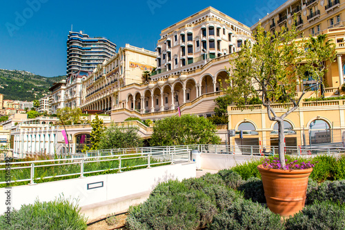 Empty street of Monaco, beautiful city landscape