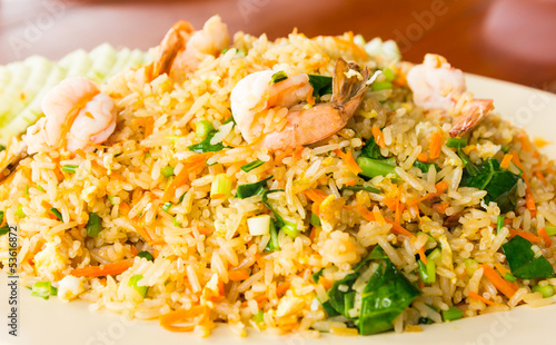 shrimp fired rice thai food