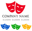 Theatrical masks logo