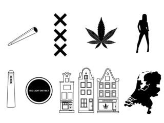 amsterdam symbols / icons