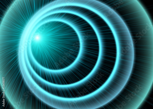 Speed of light, abstract background.