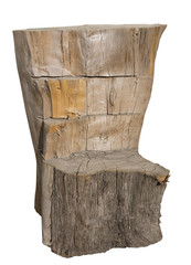 Seduta ricavata da un tronco d'albero