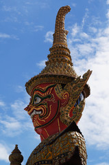 The demon guardian in Wat Phra Kaew
