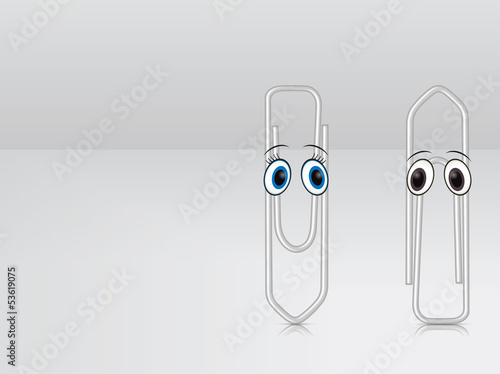 Character paper clips