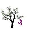 Abstrakter Baum mit Frau