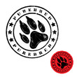 Dog foot print stamp