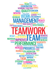 """TEAMWORK"" Tag Cloud (management performance goals targets team)"