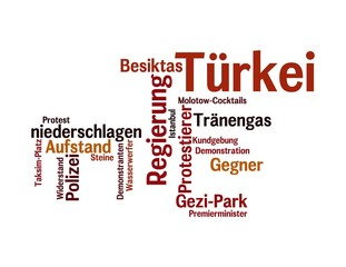 "Wortwolke ""Proteste in der Türkei"""