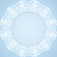 lace and pearl frame