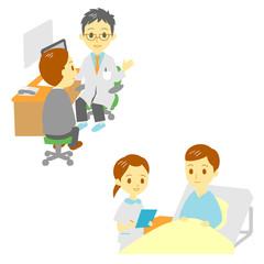 病院 診察 入院 男性
