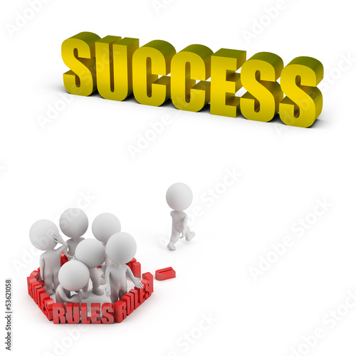 3d small people - rules and success