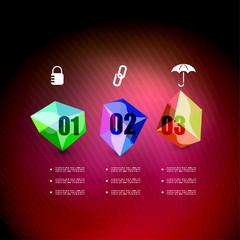 Infographics geometrical steps option banner