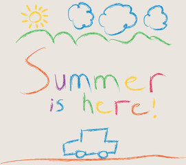 Summer crayons