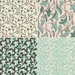 Vector set with vintage seamless patterns