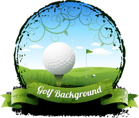 Golf background eps 10