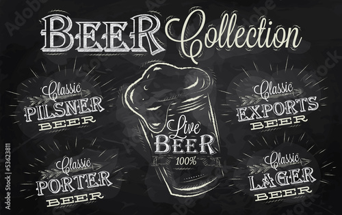 Names of different types of beer chalk
