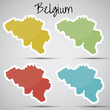 stickers in form of Belgium