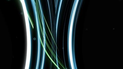 animazione astratta con fasci di luce