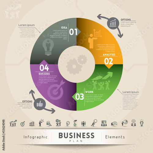 Business Plan Concept Graphic Element