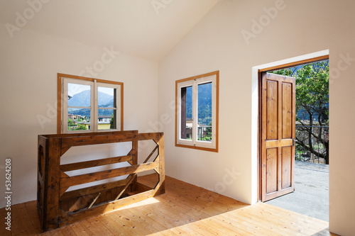 interior rustic house, entrance door