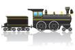 old retro locomotive vector illustration