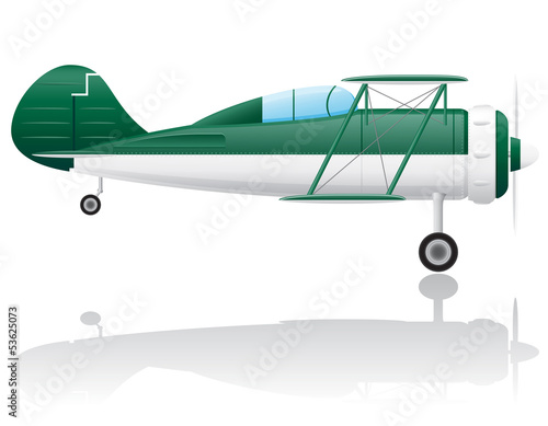 old retro airplane vector illustration