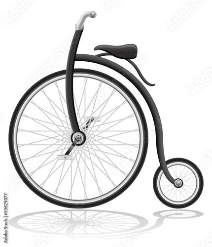 old retro bike vector illustration