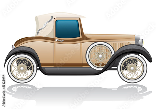 old retro car vector illustration