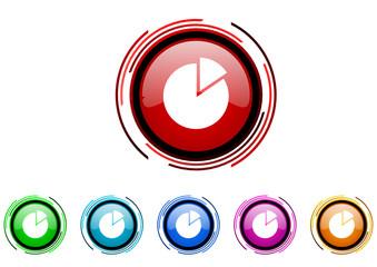 chart vector glossy web icon set