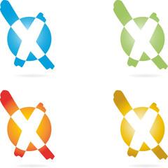 Logo, 3D, Haken, Häkchen, X