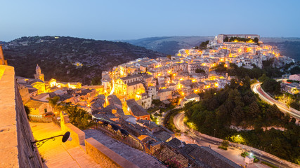 Ragusa Ibla (Sicily, Italy) in the evening