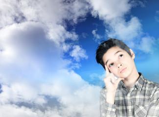 ragazzino fra le nuvole