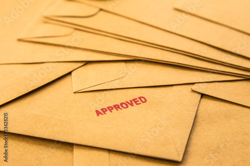 approved sign on envelope