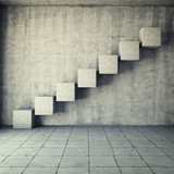 Fototapety Abstract concrete staircase